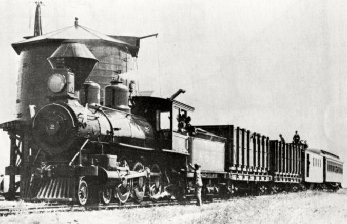 Alameda & San Joaquin Railroad Train (Photo)