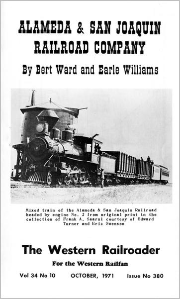 Alameda and San Joaquin Railroad Booklet (Image)