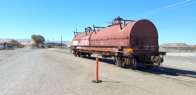 Old Alameda & San Joaquin rail line (photo)