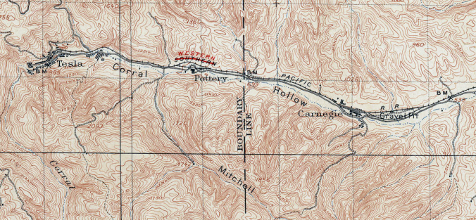 Corral Hollow (1905 USGS Map)