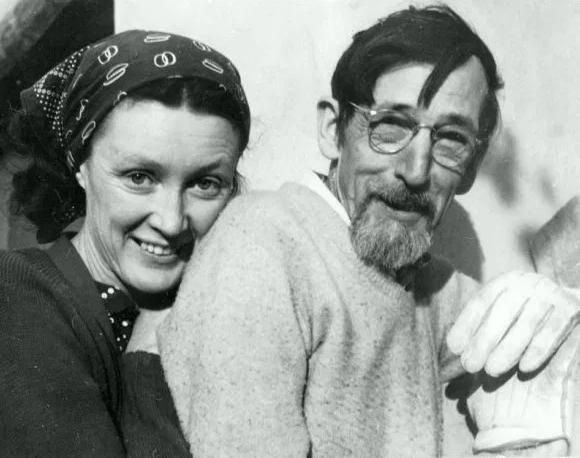 Edith Hamlin and Maynard Dixon (Photo)