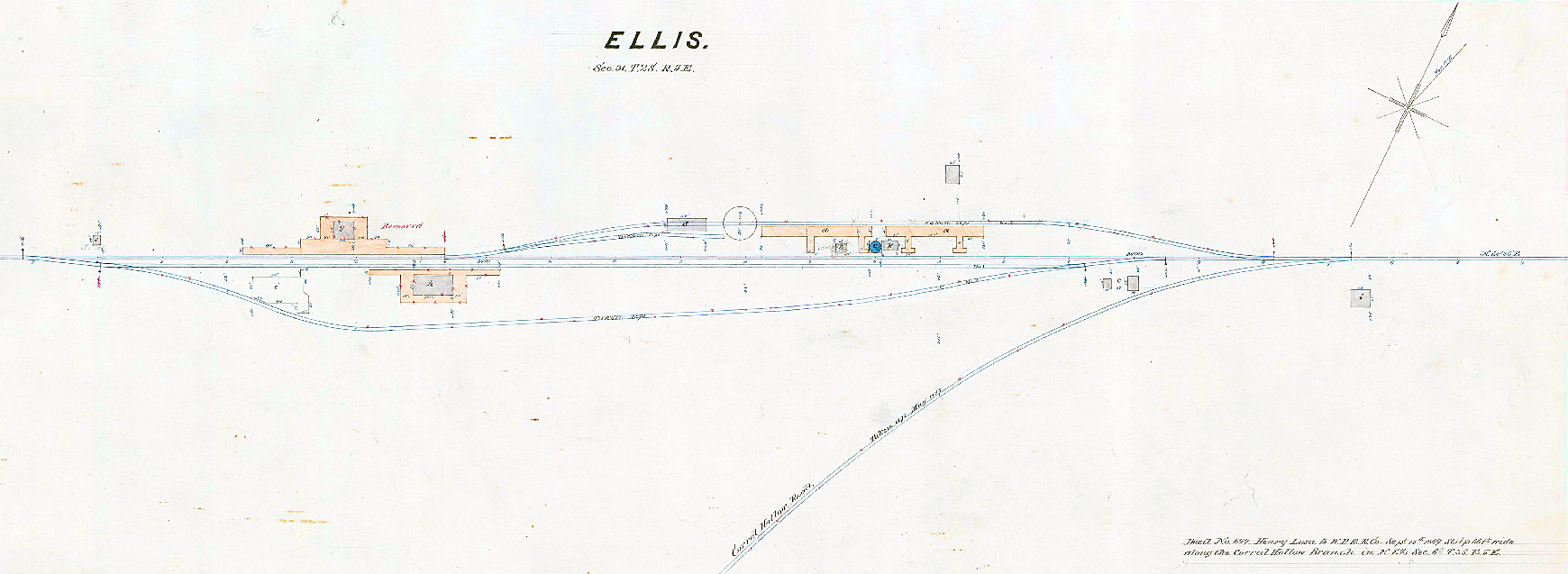 Ellis, California (Plat Map Detail, Circa 1875)