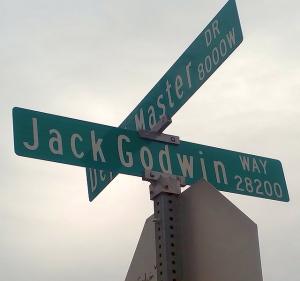 Jack Godwin Way (Street Sign Photo)