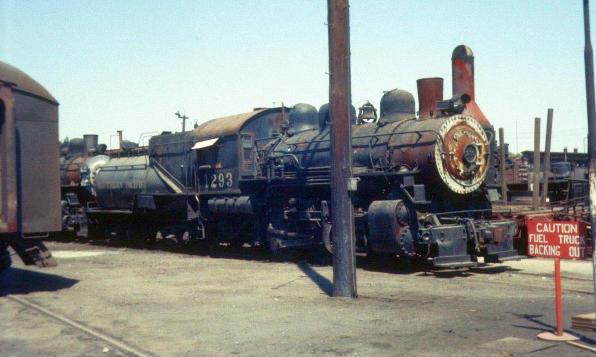 SP 1293 at Sacramento (July 1958 Photo)