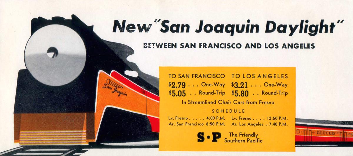 San Joaquin Daylight Ad - Circa 1940s