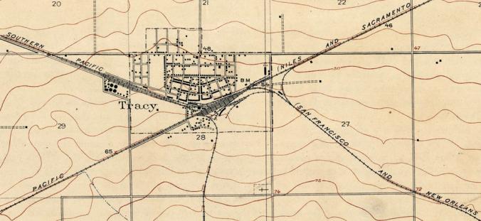 Tracy Quadrangle USGS Map (1912)