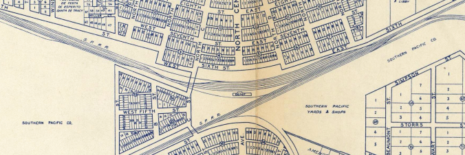 Tracy - Thomas Bros 1938 Map Detail