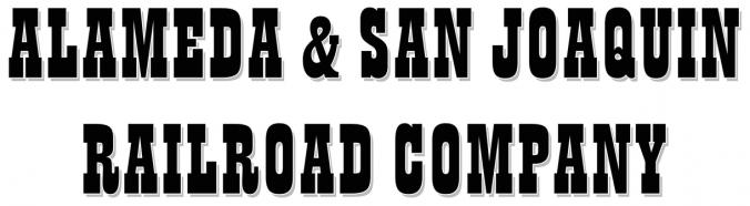 Alameda and San Joaquin Railroad Logo