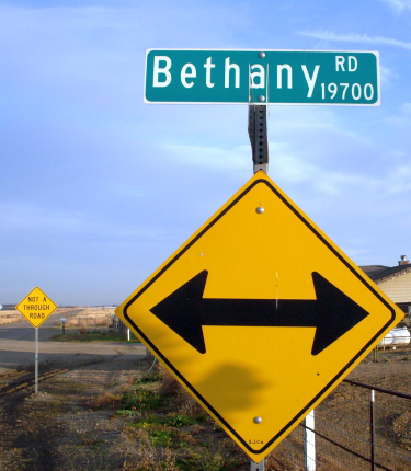 Bethany Road street sign (photo)