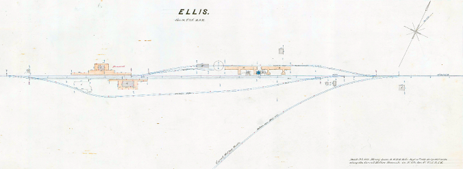 Ellis, California (Plat Map Detail, Circa 1875)