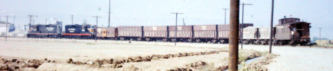 SP Sugar Beet Train, Tracy CA 1960 (Photo)