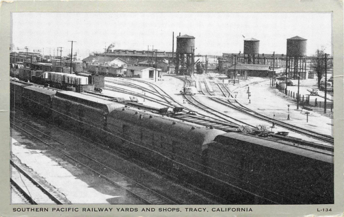 Southern Pacific Tracy Postcard (Image)