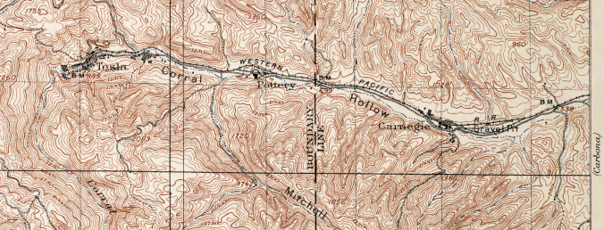 Corral Hollow, California (1907 USGS Map)