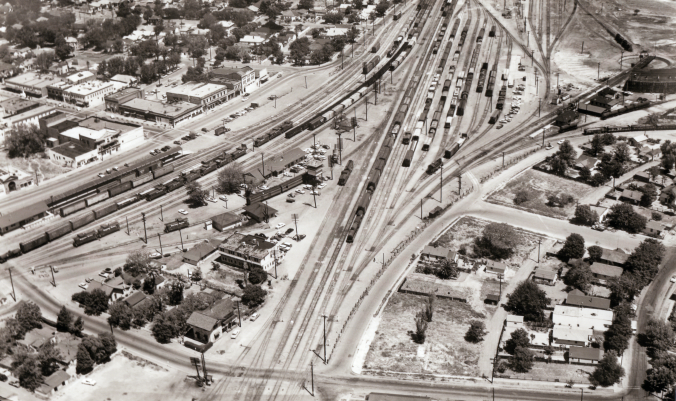 Aerial Photo of Tracy, California (1960 Image)