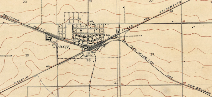Tracy Quadrangle USGS Map (1912)