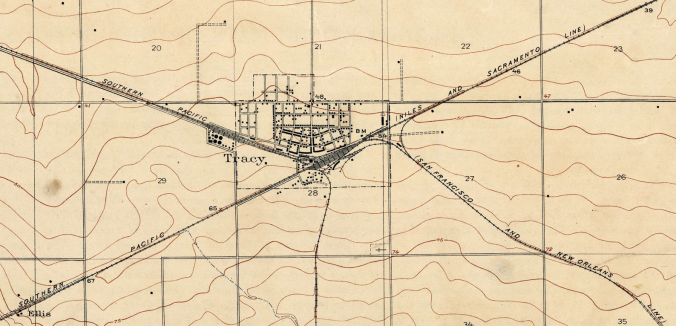 Tracy and Ellis, Calif. (1912 USGS Map)
