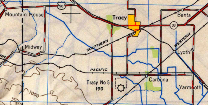 Tracy USGS Map (1947)