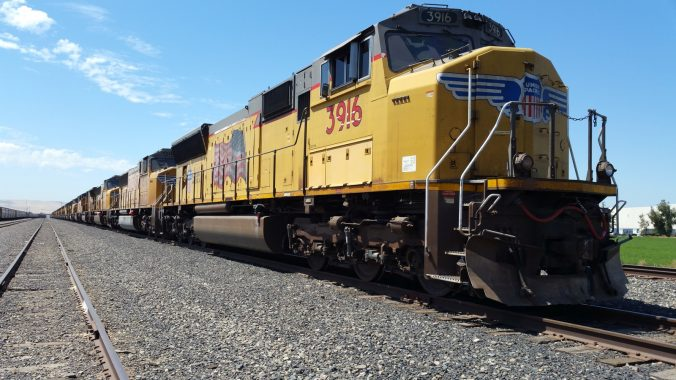 UP Stored Locomotives at Tracy (Photo)