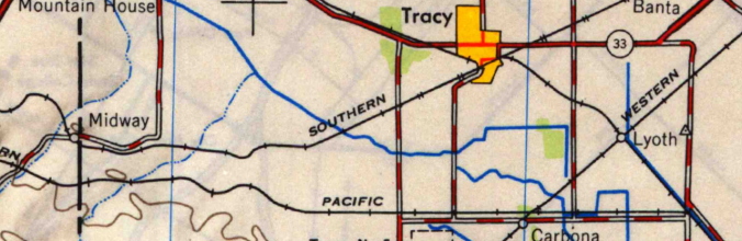 Tracy USGS Map (Detail, 1947)