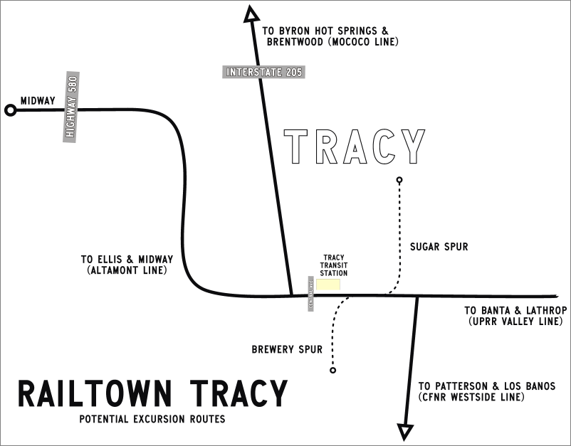 Tracy Rail Routes (Image)